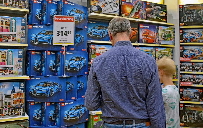 De Bugatti Chiron van LEGO. De doos kost 350 euro