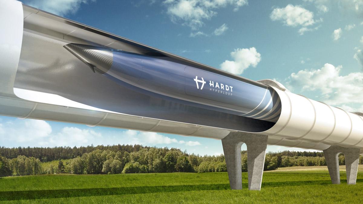 Artist's Impression van de Hardt Hyperloop