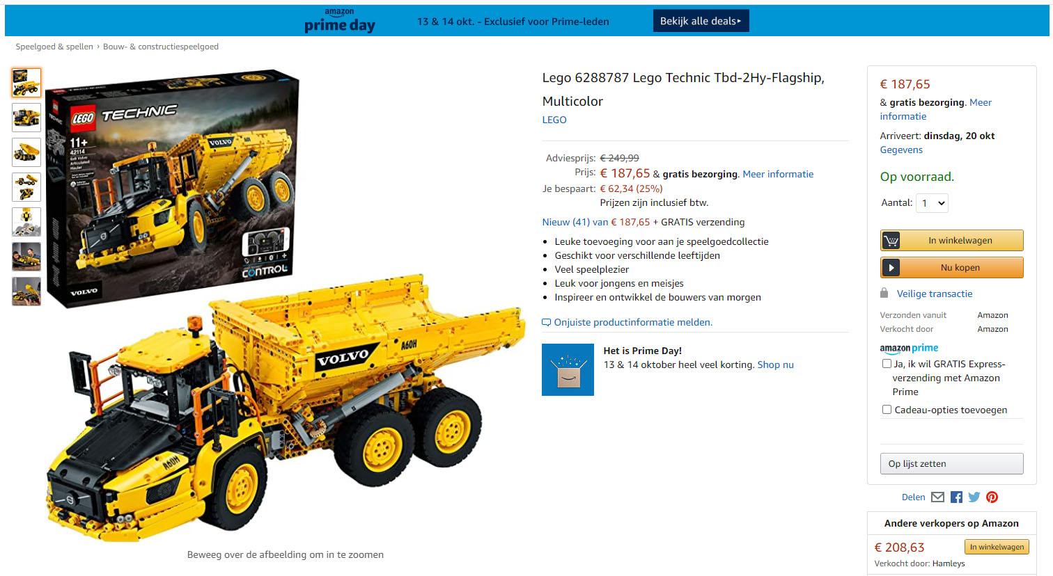 Amazon biedt regelmatig LEGO-dozen aan tegen de laagste prijs ooit