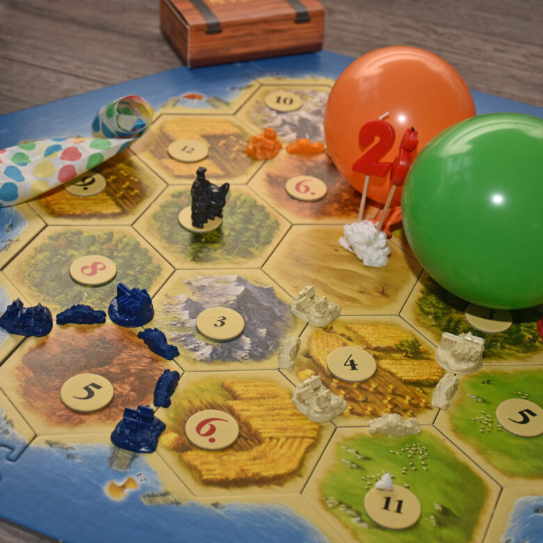 Carcassonne, Catan en Monopoly vieren een feestje