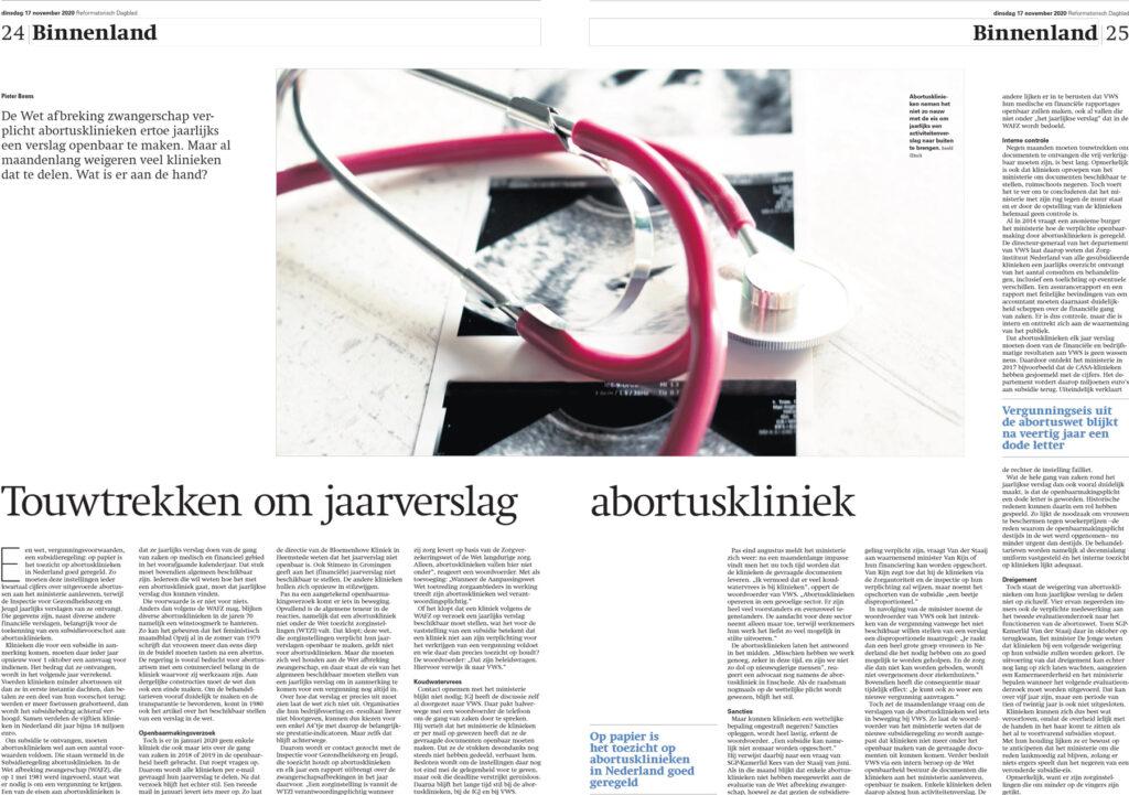 Onderzoeksjournalistiek: hoe abortusklinieken niet aan hun wettelijke plicht voldoen